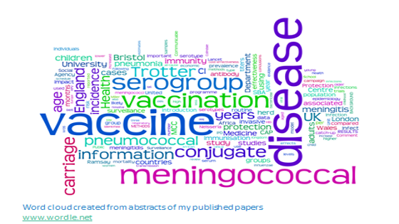 Word cloud of research interests